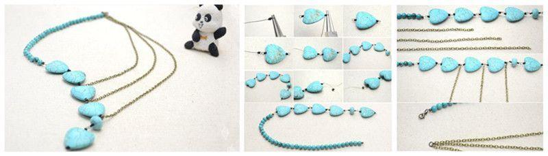 Comment faire un collier de cha ne de turquoises - Comment faire un collier en perle ...